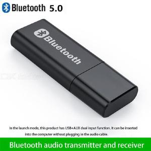Bluetooth 5.0 Transmitter Receiver 2-in-1 USB Bluetooth Adapter Hi-Fi Wireless 3.5mm Audio Adapter For PC TV Car Home