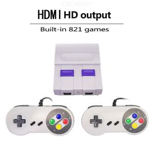 Classic Mini Game Console SNES 8 Bit Retro Family Video Game Console with 2 Controllers HD TV Output Built-in 821 Games