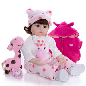 18 Inch/46 CM Reborn Baby Doll Toy Silicone Newborn Dolls Birthday Christmas Toys Gifts for Children Kids