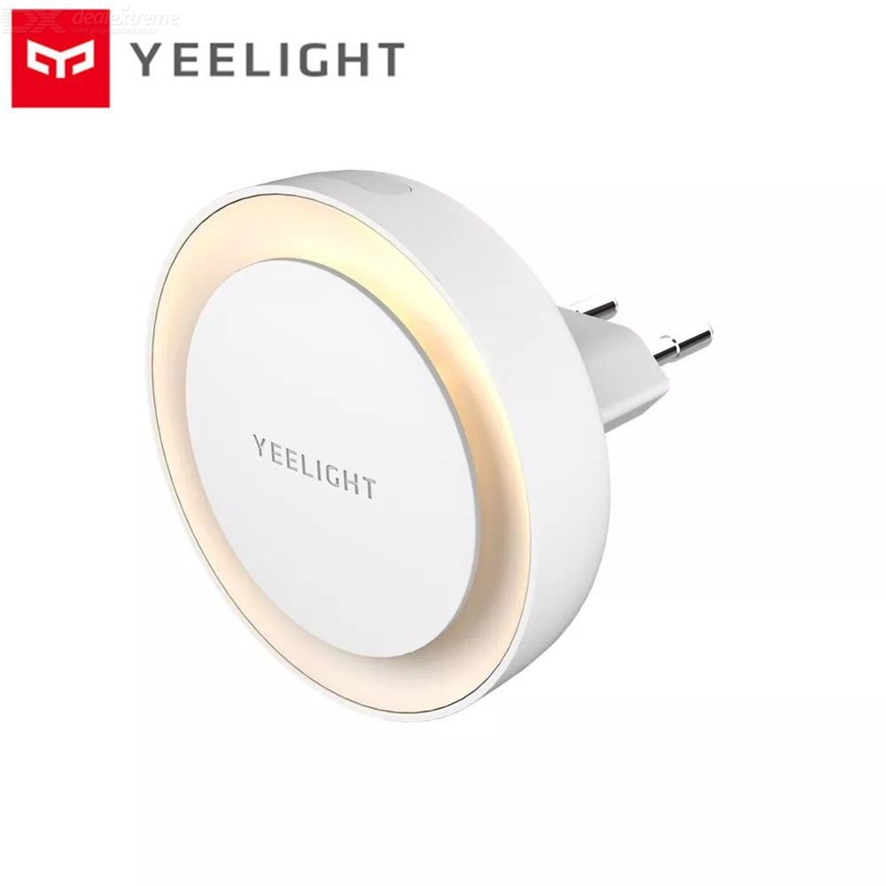 Mijia Yeelight Plug-in LED Night Light Round Wall Lamp With Light Sensor - EU Plug - White