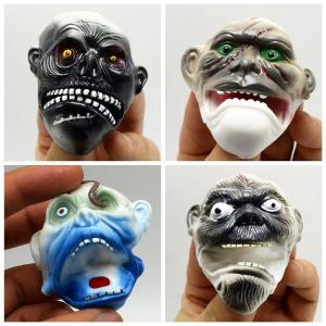 4Pcs Ghost Head Finger Puppets Toy For Telling Story Birthday Holiday Christmas Halloween Party