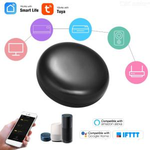 TUYA Universal TV WiFi-IR Remote Control, Smart Life Voice Remote Controller, Support Alexa Furlife/Tuya Phone APP