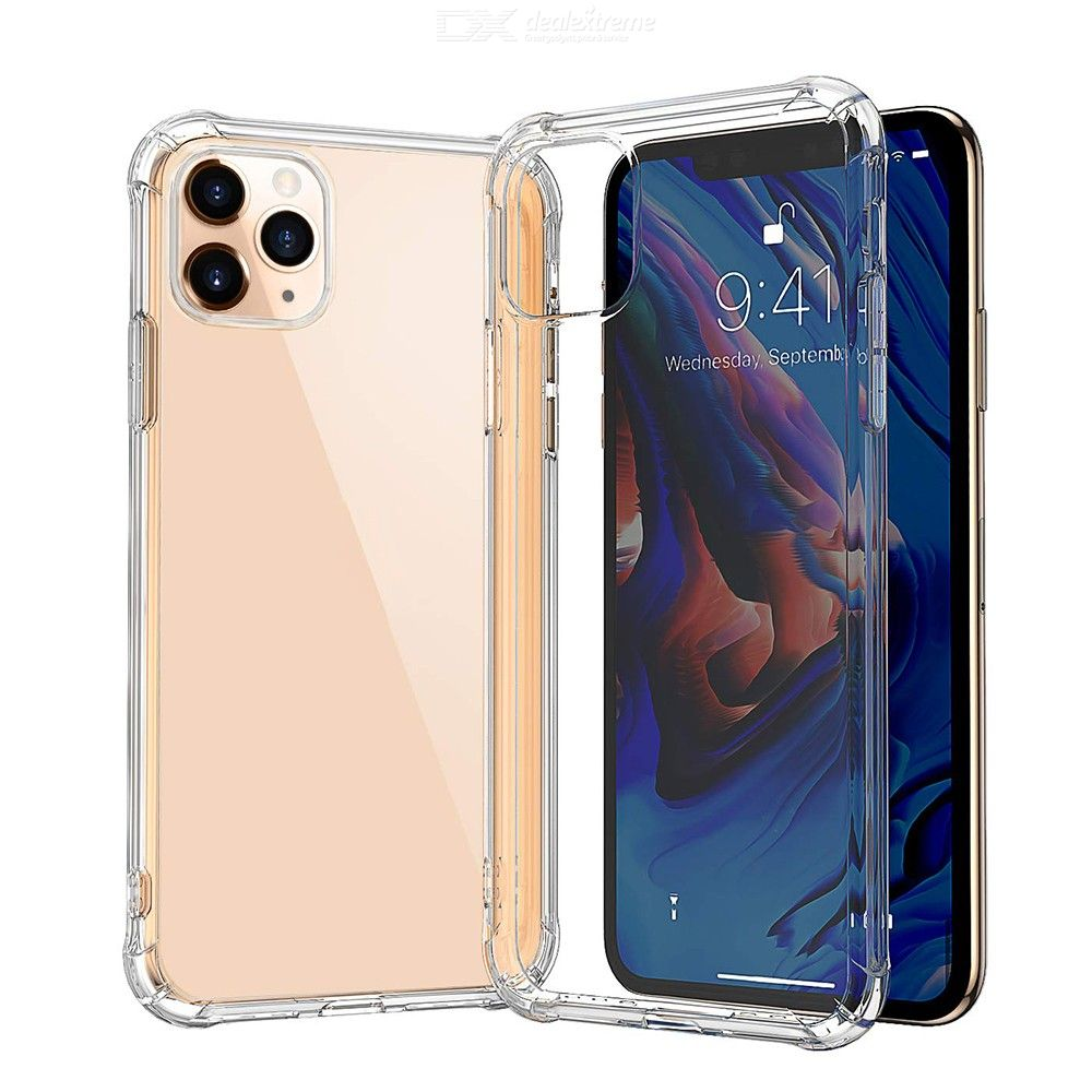 CHUMDIY Transparent Back Cover, Soft TPU Silicone Phone Case for iPhone 11 Pro