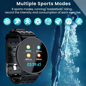 T3 IOS Android Smart Watch Bracelet, Men Women HR Blood Oxygen Blood Pressure IP67 Waterproof Activity Fitness Tracker
