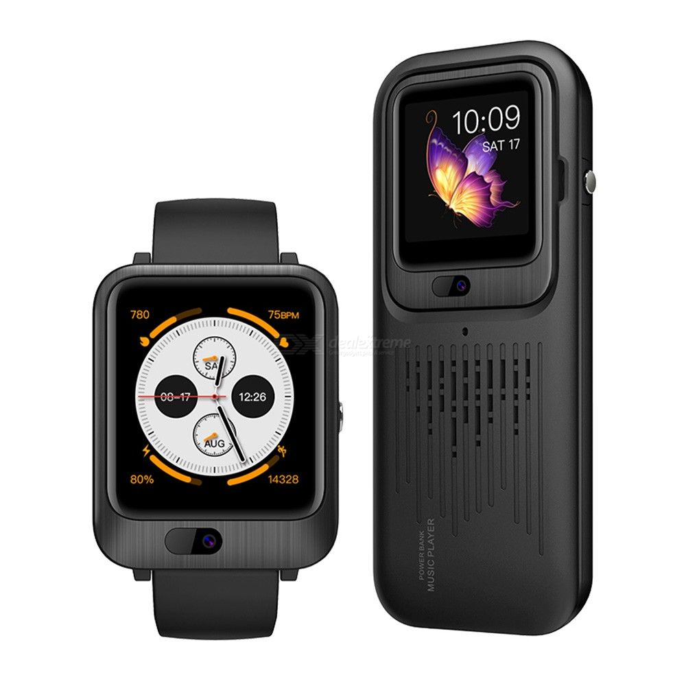 LEMFO LEM11 4G Smart Watch Android 7.1 1GB RAM 16GB ROM Video Call With 1200mah Power Bank Bluetooth Speaker Replaceable Strap
