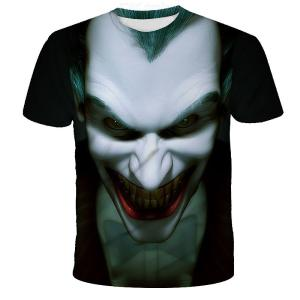 Fashion Short Sleeve T-shirt With Funny Joker Pattern Quick Drying Casual Tops Shirt