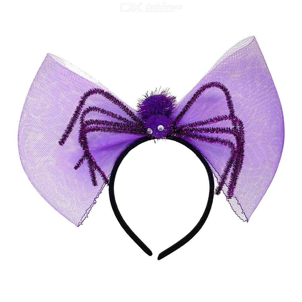 Halloween Spider Bow Headband Witch Cosplay Hair Accessories Costume Headwear Decorations