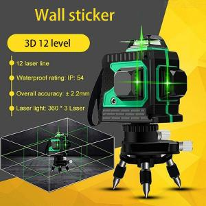 3D Green Beam Self-Leveling Laser Level, 360 Degree Horizontal Vertical Cross Line Laser For Indoor Outdoor Use