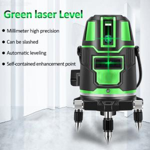 2 / 3 / 5 Lines Self-Leveling Green Light Vertical And Horizontal Laser Level For Indoor Outdoor Use