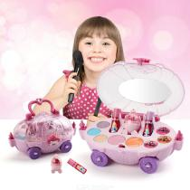 Childrens-Play-House-Makeup-Set-with-Mini-Car-Shape-Case