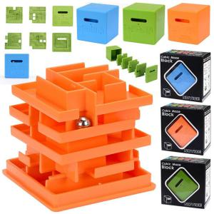 Novice Labyrinth Cube Level 3 Maze Puzzle For Kids Adults
