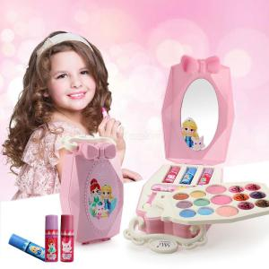 Childrens Play House Fairy Tale Princess Makeup Set Toy Box with Mirror