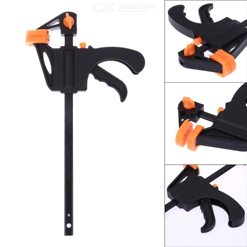 4 Inch Quick Ratchet Release Speed Squeeze Wood Working Bar Clamp Clip Kit Spreader Gadget Tool For DIY Hand Woodworking