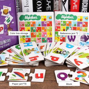 Educational Alphabet Card Uppercase Lowercase Letter Cartoon Patterned Card