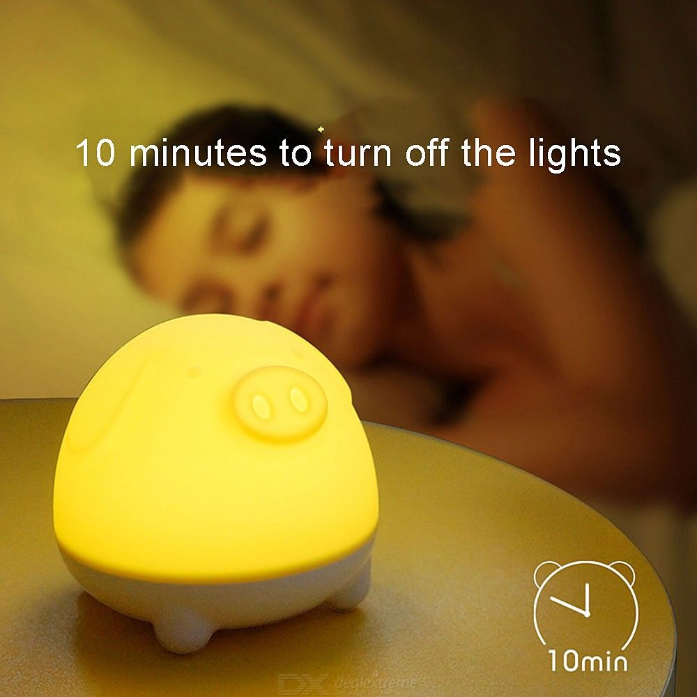 LED Night Light USB Rechargeable Dimmable Colorful Night Lamp With Timing Function For Bedroom Bedside Living Room