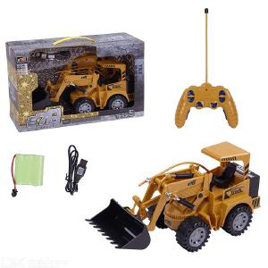 2.4G Remote Control Construction Toy RC Truck 4WD Tractor Bulldozer for Kids Gift