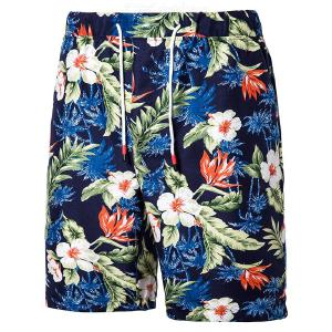 Plus Size Men Fashion Print Casual Drawstring Beach Board Shorts for Summer
