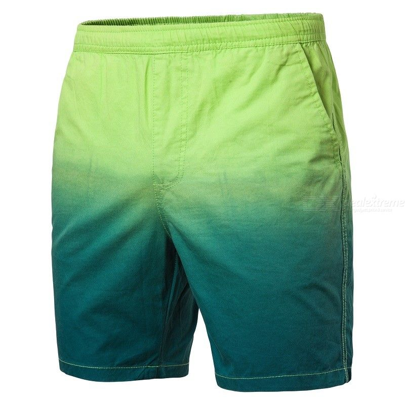Fashion Men Color Gradient Casual Beach Board Shorts Swimming Trunks