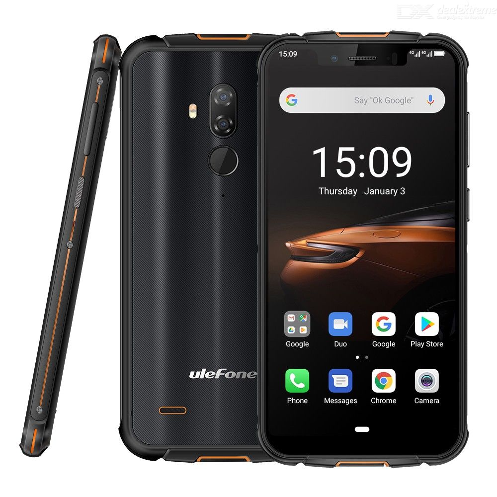 Ulefone Armor 5S 5.85 Inch Android 9.0 Rugged Phone 4GB 64GB IP68 13MP+2MP 5000mAh Wireless Charge Global Version