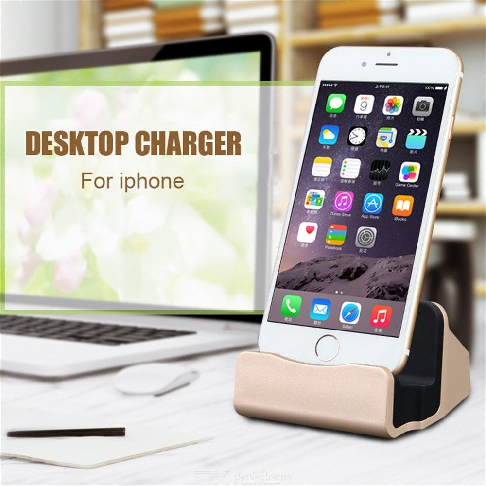 Wireless Charger 2-in-1 Charging Syncing Stand For IPHONE 6S 6S PLUS