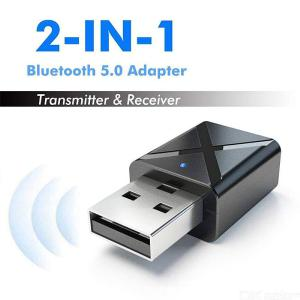 Bluetooth 5.0 Transmitter Receiver 2-in-1 USB Bluetooth Adapter For PC TV Car Home Stereo