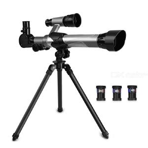 Outdoor Scientific Experiment HD Eyepiece Monocular Astronomical Telescope with 360 Degree Rotation Tripod for Students Kids