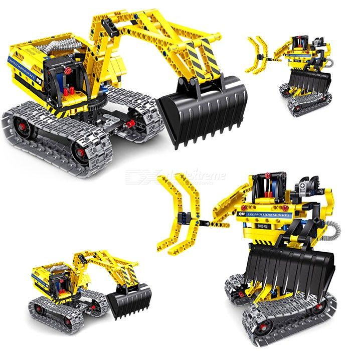Science Projects Kits, Building Excavator Sets Construction Engineering Robot Toys for Kids