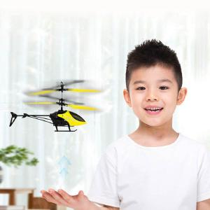 Mini Gesture Sensing 2-Channel Helicopter Model Toy for Kids Children