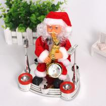 Creative-Plush-Band-Santa-Claus-Toy-Playing-Drum-Keyboard-Saxophone-Christmas-Toys-For-Toddlers-Kids