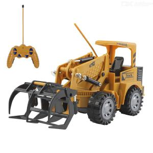 1:24 2.4G Wireless 5-Channel Remote Control Simulation Engineering Vehicle Road Roller Truck RC Toy