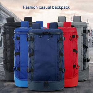 Durable Nylon Hiking Backpack Large Capacity Waterproof Travel Backpack With Shoe Compartment