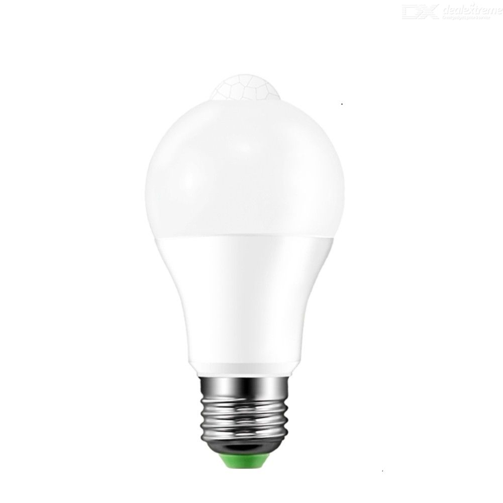 E27 5W LED PIR Motion Sensor Bulb, Automatic Intelligent LED Infrared Sensor Light Bulb