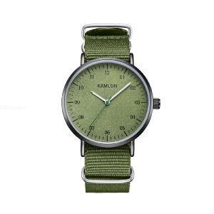 KAMLON Mens Fashion Analog Watch Casual Sports Watch With Canvas Band