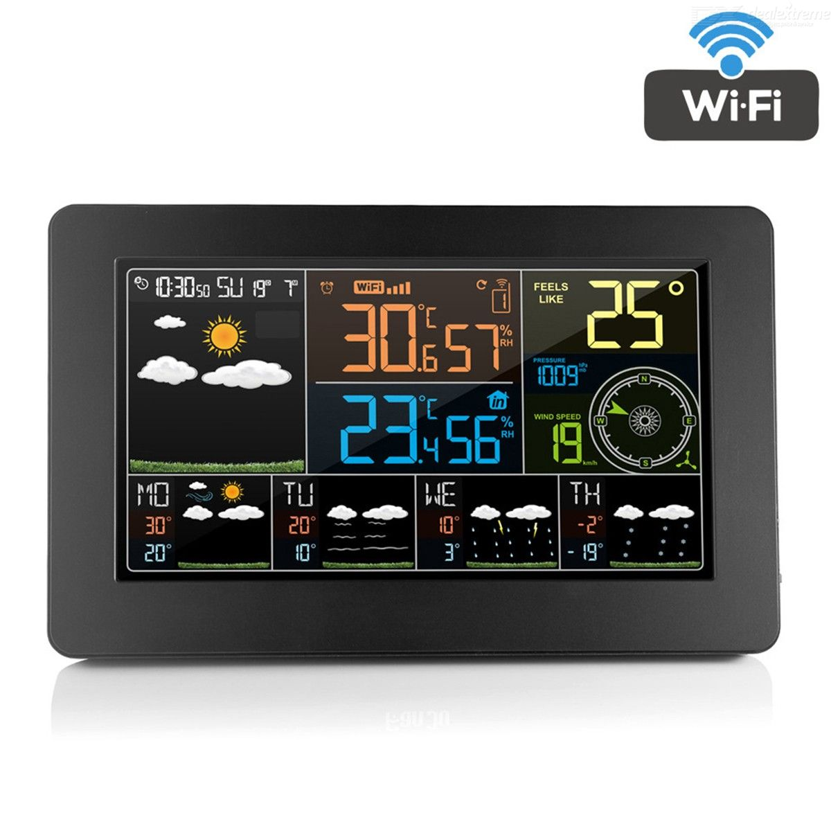 Thermometer | Wireless | Weather | Outdoor | Indoor | Alarm | Clock | Wifi | Plug