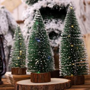 Decorative LED Light Tree, Festival Christmas Table Floor Ornament Tree Lamp With LED Strip Battery Powered
