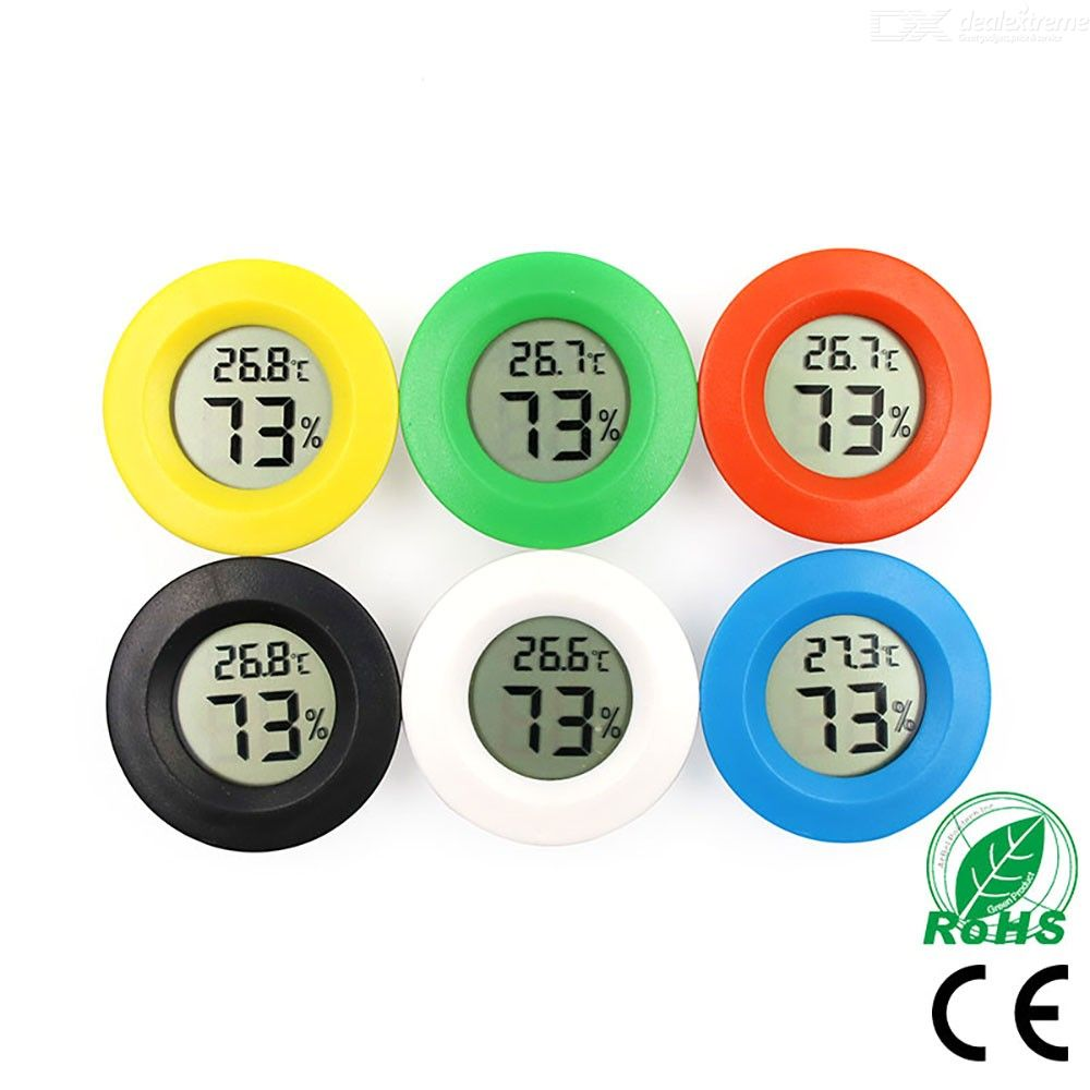 Mini Digital Hydrometer Thermometer Refrigerator Freezer Temperature Humidity Gauge With LCD Screen