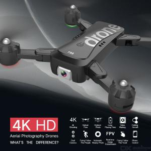 F88 RC Quadcopter Foldable Portable WiFi Drone With 4K HD Wide-Angle Live Video Camera Altitude Hold Mode