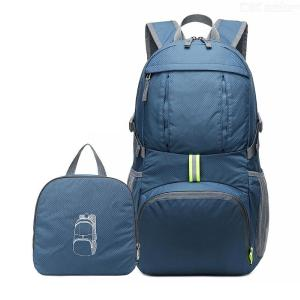 Outdoor Foldable Travel Backpack Lightweight Water Resistant Hiking Bag With 35L Large Capacity For Men Women