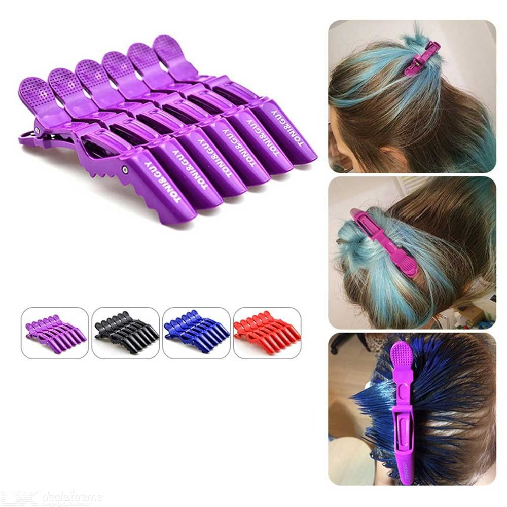 6PCS/Set Styling Hair Clips Plastic Hair Sectioning Clips – Random Color