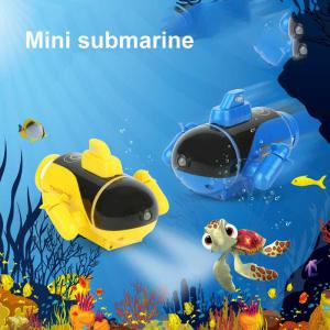 Mini RC Submarine Remote Control Boat Ship Kids Swimming Pool Toys With Light