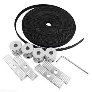 5m GT2 Timing Belt And 4Pcs 20 Teeth Timing Belt Pulleys And 1Pc Hex Key And 4Pcs Mounting Blocks For 3D Printer Accessories