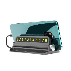 Parking Phone Number Plate Universal Reflective Temporary Parking Phone Number Card