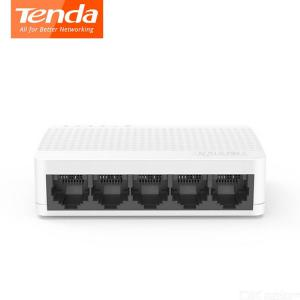 Interruptor De Ethernet Tenda S105 Mini 5 Puertos De Red De Escritorio Switchs Puerto 10M / 100M RJ45 Full Dúplex Concentrador LAN - Enchufe Para EE.UU.