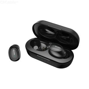 AWEI T16 TWS Bluetooth Earphone V5.0 True Wireless Earbuds 3D Stereo Headphone Built-in Mic For IPhone Xiaomi - Black