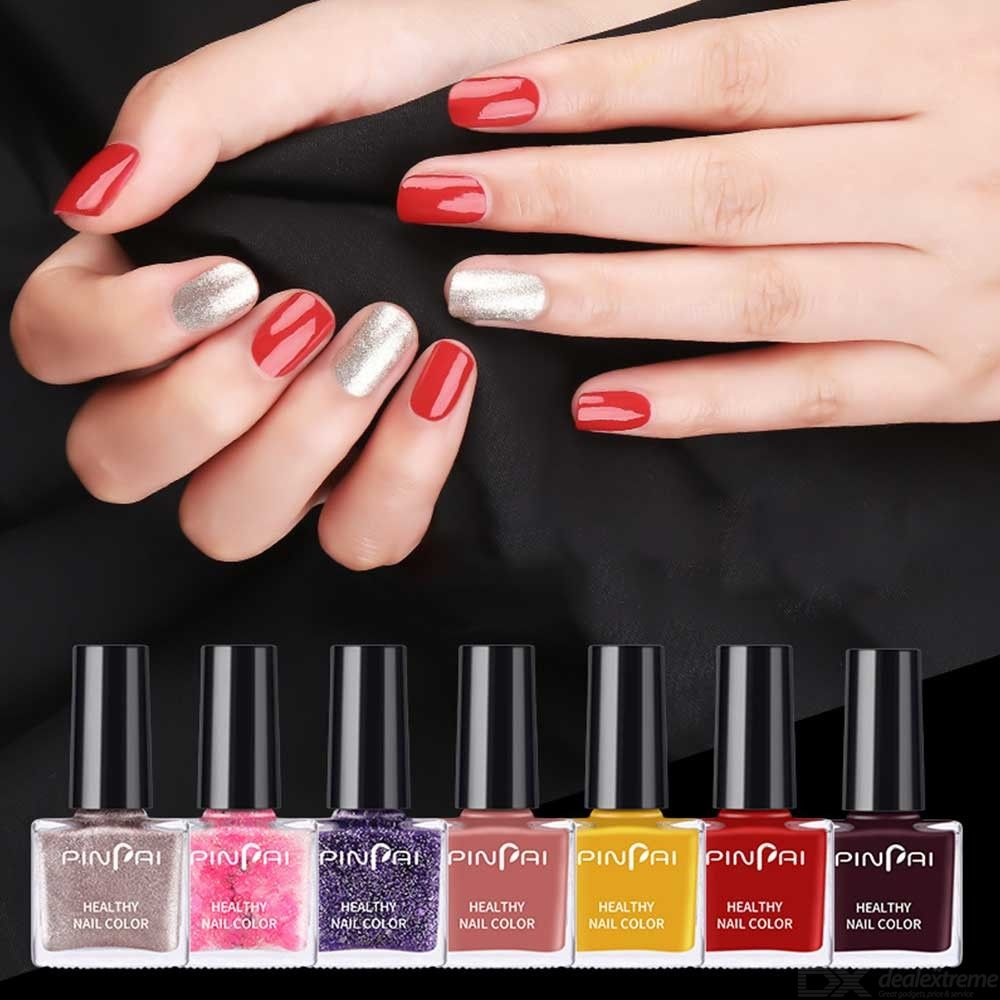Women Nail Polish Solid Colors Long Lasting Gel Polish For Lady Makeup - 6ml