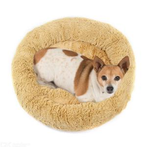 Donut Pet Bed Ultra Soft Faux Fur Dog Cat Beds For Medium Small Dogs Cats