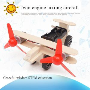 3D Wooden Assembly Aircraft Creative Assembly Craft Kit Model For Kids