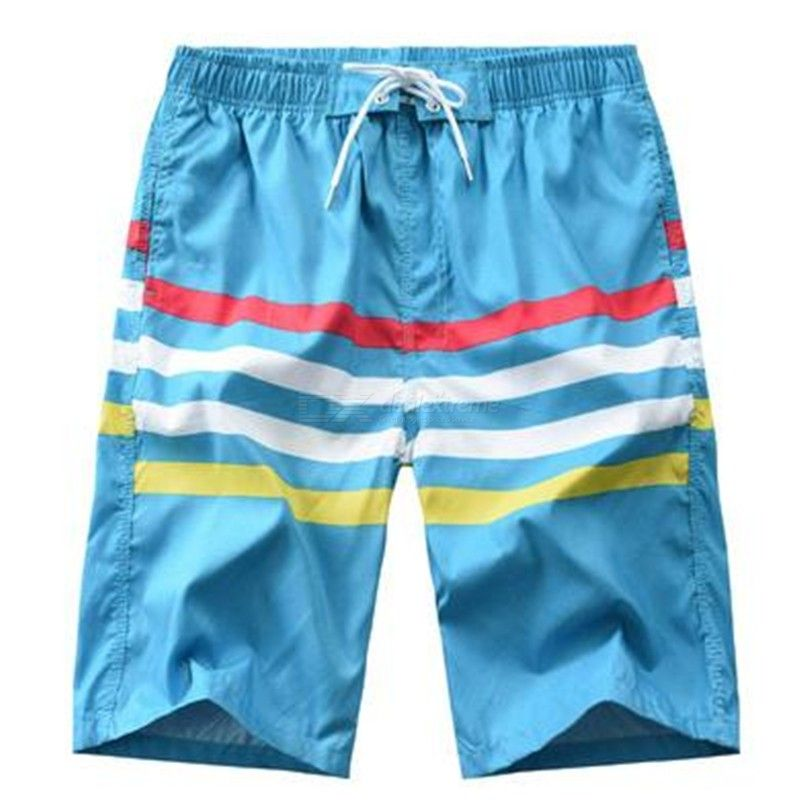 Male Casual Straight Shorts Loose Knee-length Beach Pants