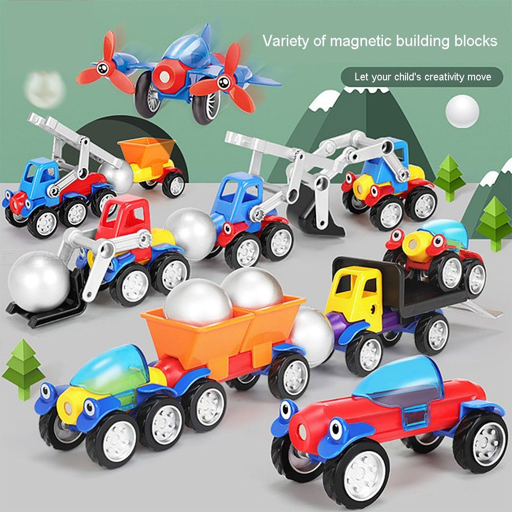 Build Your Own Toy Cars Set Magnetic Building Car Sets For Toddlers Boys Girls
