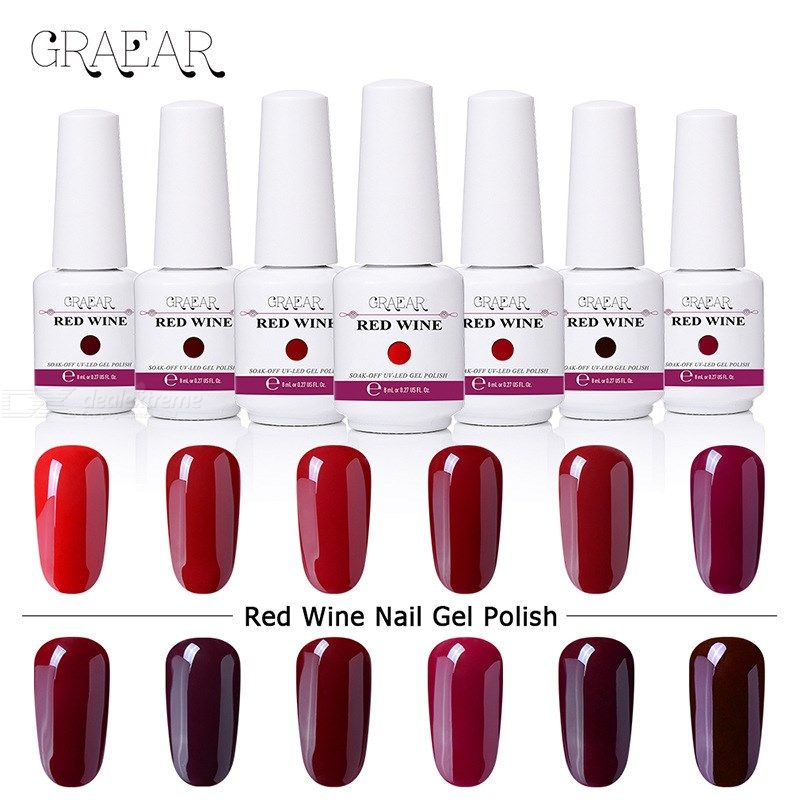 Burgundy | Polish | Jelly | Nail | Wine | Off | Red